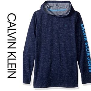 Calvin Klein Jeans spell out hoodie size s…